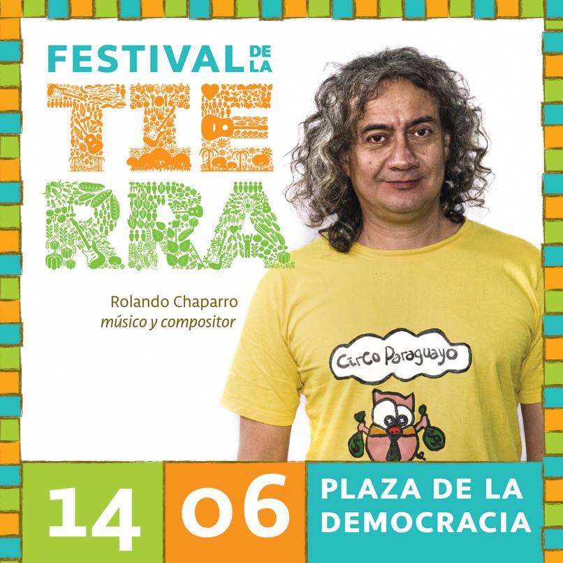 Chaparro es uno de los artistas que subirá a escenario por la justicia para las familias campesinas de Curuguaty. FOTO: Facebook de Golpe a Golpe