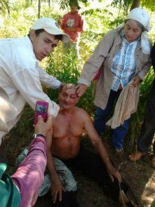 Aníbal Alegre tras la represión en San Vicente, departamento de San Pedro